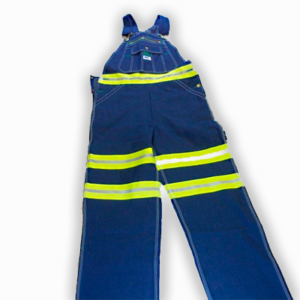Bib Overalls with Yellow Reflective