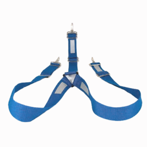 Blue Suspenders with reflective